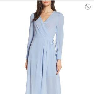 Garden Stroll Wrap Maxi Dress